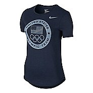 Womens Nike USOC Dri-Blend Logo Tee Short Sleeve Technical Tops