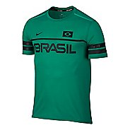 Mens Nike Dry Top Energy Brazil Short Sleeve Technical Tops