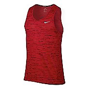 Men' Nike Dry Tank Tailwind Print Sleeveless & Tank Technical Tops - University Red L
