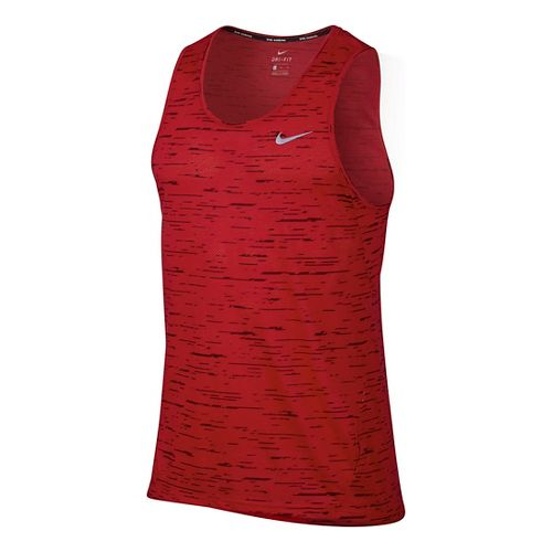 Men' Nike Dry Tank Tailwind Print Sleeveless & Tank Technical Tops - University Red S ...