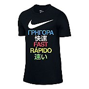 Mens Nike Run Fast Tee Short Sleeve Technical Tops