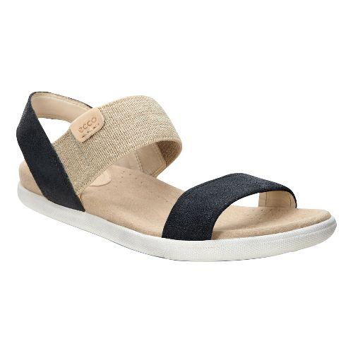 Womens Ecco Damara Ankle Sandals Shoe - Black/Cow Suede 41