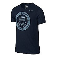 Mens Nike USOC Dri Blend Logo Tee Short Sleeve Technical Tops
