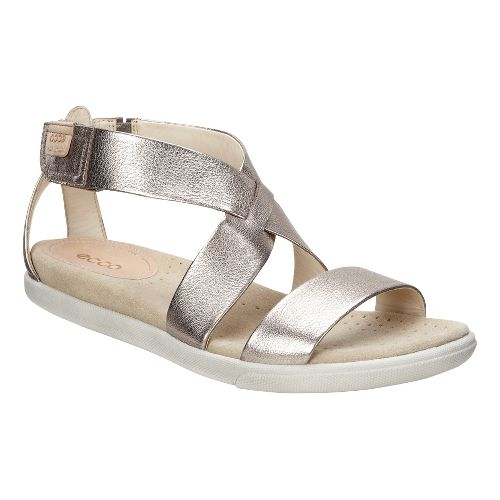 Womens Ecco Damara Strap Sandals Shoe - Silver 38