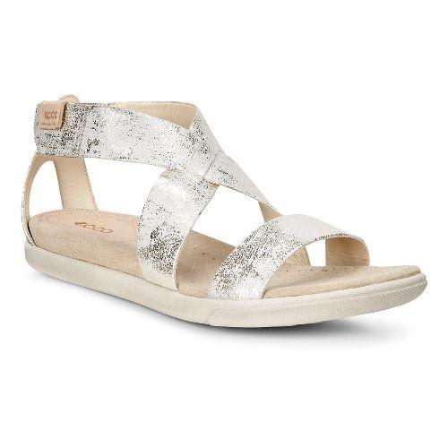 Womens Ecco Damara Strap Sandals Shoe - Gravel 40