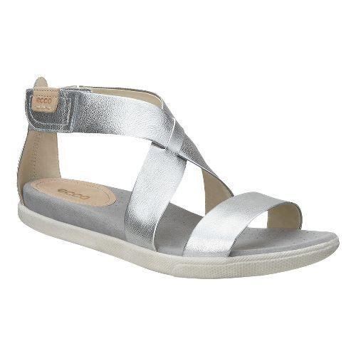 Womens Ecco Damara Strap Sandals Shoe - Silver 40