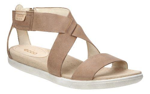 Womens Ecco Damara Strap Sandals Shoe - Camel 39