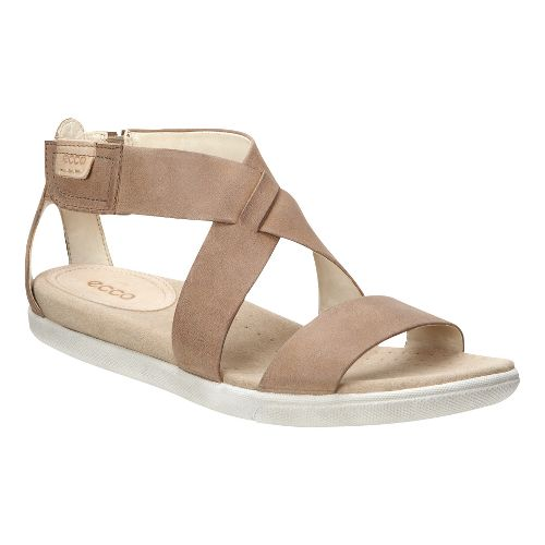 Womens Ecco Damara Strap Sandals Shoe - Camel 40