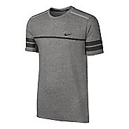 Mens Nike Dry Top City GR Short Sleeve Technical Tops - Dark Grey M