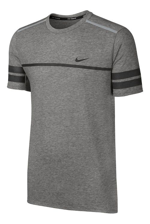Mens Nike Dry Top City GR Short Sleeve Technical Tops - Dark Grey S