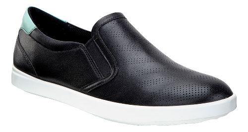 Womens Ecco Aimee Sport Slip On Casual Shoe - Black/Granite Green 41