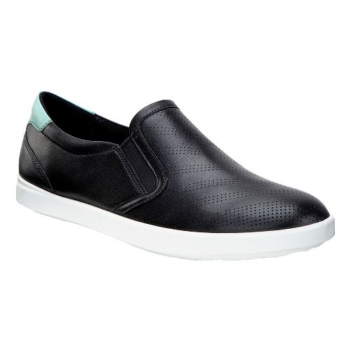 Womens Ecco Aimee Sport Slip On Casual Shoe - Black/Granite Green 42