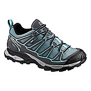 Womens Salomon X Ultra Prime CS WP Hiking Shoe - Arctic Blue/Grey 5.5