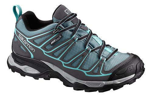 Womens Salomon X Ultra Prime CS WP Hiking Shoe - Arctic Blue/Grey 9.5