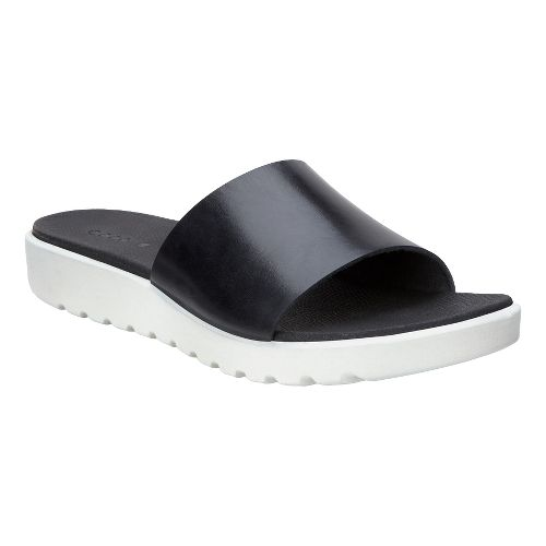 Womens Ecco Freja Slide Walking Shoe - Black Palm 42
