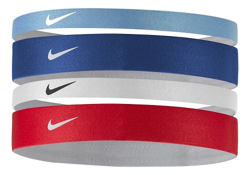 Womens Nike Printed Headbands Assorted 4-pack Headwear - Chalk Blue/Royal Blue