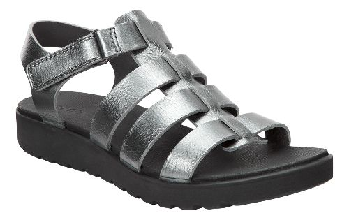 Womens Ecco Freja Ankle Sandals Shoe - Dark Shadow 39