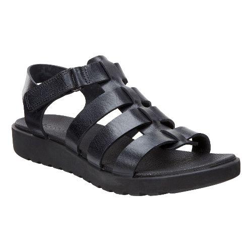 Womens Ecco Freja Ankle Sandals Shoe - Black Palm 37