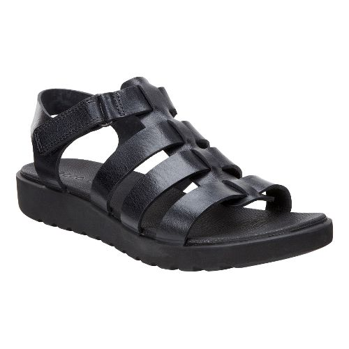 Womens Ecco Freja Ankle Sandals Shoe - Black Palm 40