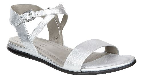 Womens Ecco Touch Ankle Sandals Shoe - Silver 41