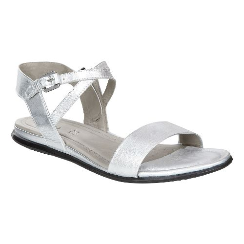 Womens Ecco Touch Ankle Sandals Shoe - Silver 36