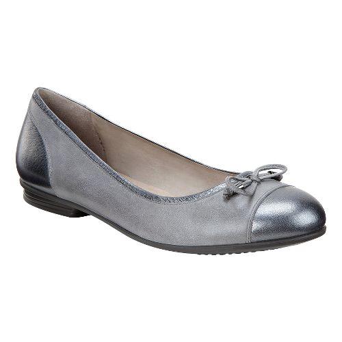 Womens Ecco Touch Ballerina Bow Casual Shoe - Dark Shadow 35