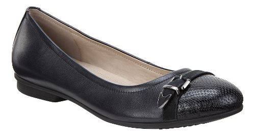 Womens Ecco Touch Ballerina Buckle Casual Shoe - Black 40