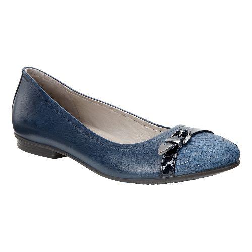 Womens Ecco Touch Ballerina Buckle Casual Shoe - Denim Blue 39