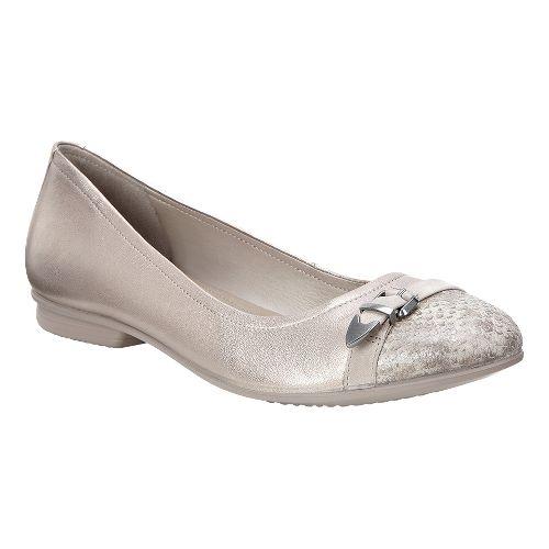 Womens Ecco Touch Ballerina Buckle Casual Shoe - Moon Rock 40