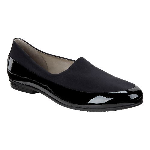 Womens Ecco Touch Ballerina Stretch Casual Shoe - Black 38