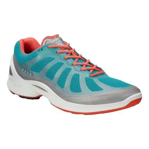 Womens Ecco BIOM Fjuel Racer Walking Shoe - Metallic/Breeze 40