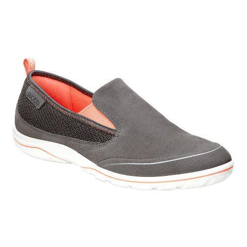 Womens Ecco Arizona Slip On Casual Shoe - Dark Shadow/Coral 41