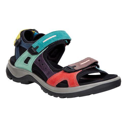 Womens Ecco Anniversary Yucatan Sandals Shoe - Multi-color 36