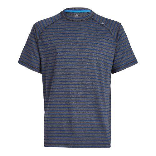 Mens Tasc Performance Carrollton T Printed Short Sleeve Technical Tops - Black Stripes L
