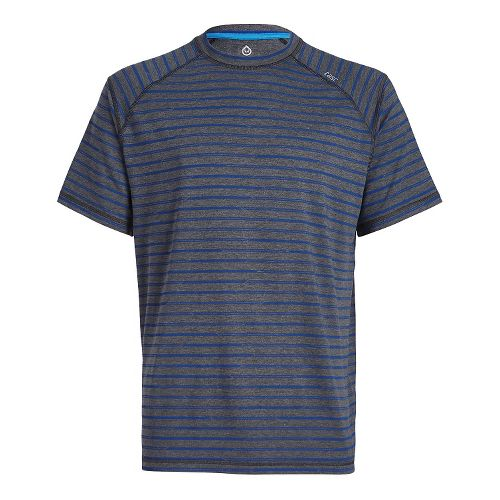 Mens Tasc Performance Carrollton T Printed Short Sleeve Technical Tops - Black Stripes S