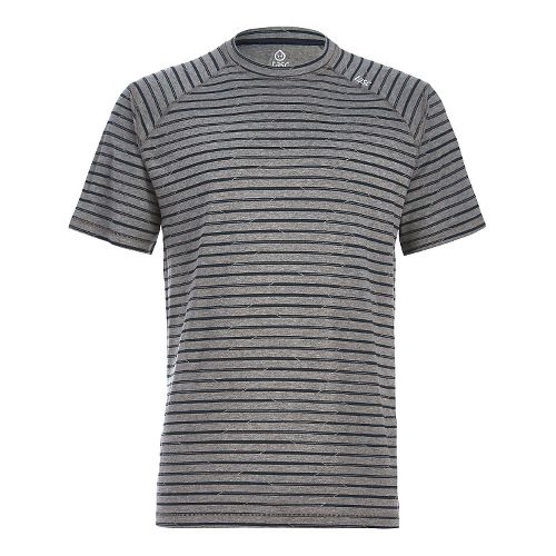 Mens Tasc Performance Carrollton T Printed Short Sleeve Technical Tops - Grey Stripes S