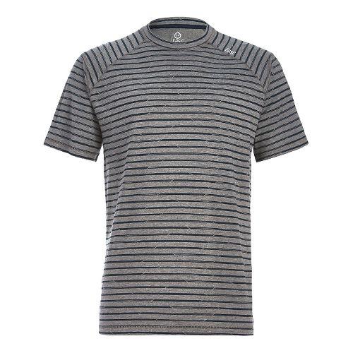 Mens Tasc Performance Carrollton T Printed Short Sleeve Technical Tops - Grey Stripes S