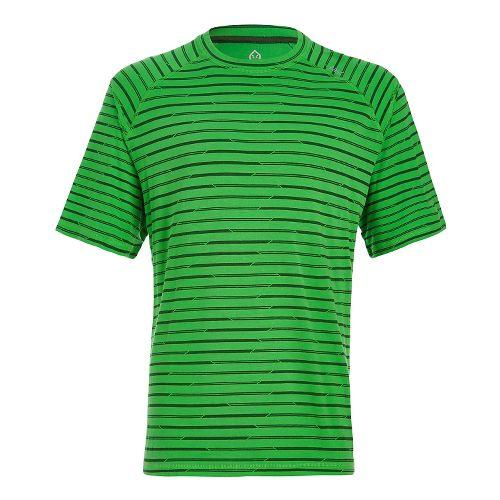 Mens Tasc Performance Carrollton T Printed Short Sleeve Technical Tops - Green Stripes M