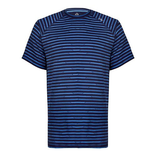 Mens Tasc Performance Carrollton T Printed Short Sleeve Technical Tops - Navy/Bamboo M