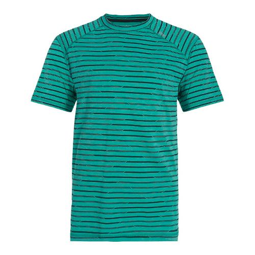 Mens Tasc Performance Carrollton T Printed Short Sleeve Technical Tops - Maldives/Gunmetal L