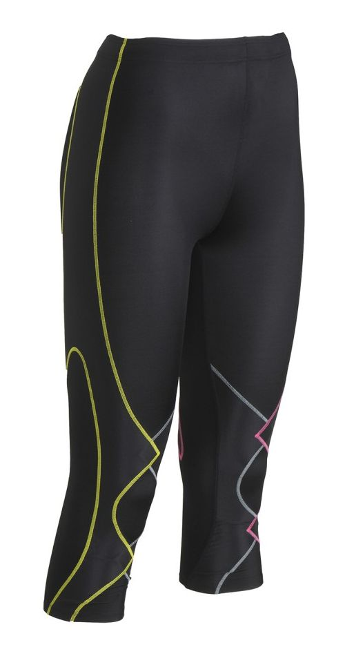 Womens CW-X 3/4 Expert Leggings Tights - Black/Multi S