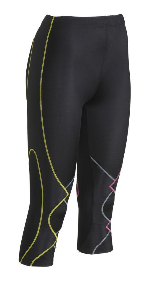 Womens CW-X 3/4 Expert Leggings Tights - Black/Multi XS