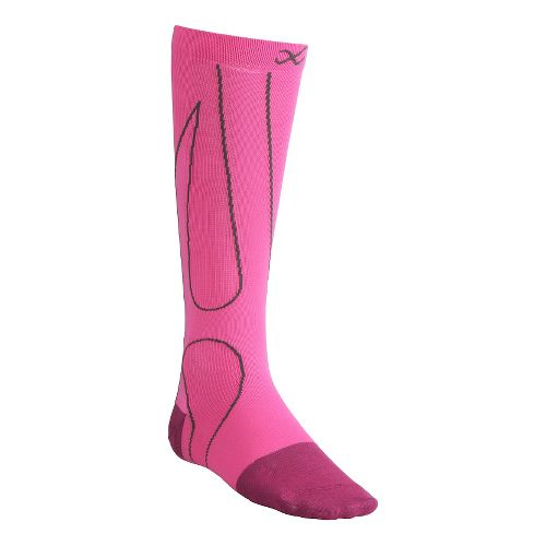 CW-X PerformX Socks Injury Recovery - Pink/Charcoal M