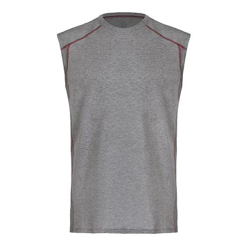 Mens Tasc Performance Circuit Sleeveless & Tank Tops Technical Tops - Grey/Green L