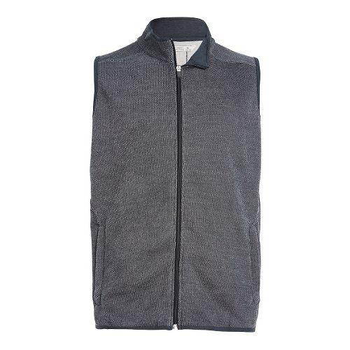 Mens Tasc Performance Transcend Fleece Vests Jackets - Heather Grey M