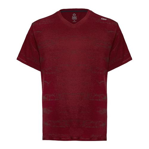Mens Tasc Performance Vital V-Neck T Printed Short Sleeve Technical Tops - Brick House/Sonar S ...