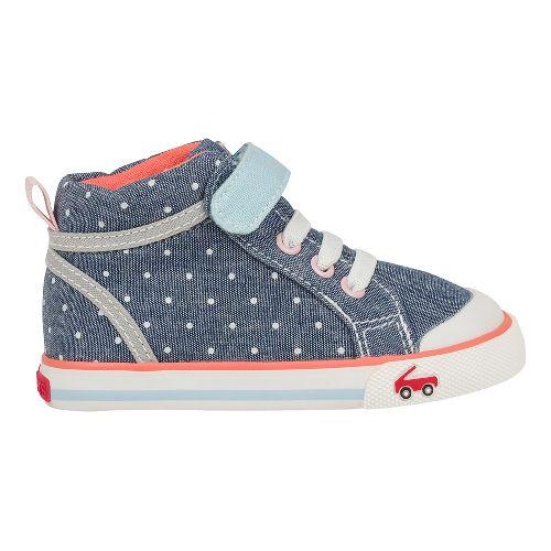 Kids See Kai Run Peyton Casual Shoe - Blue/Dots 5C