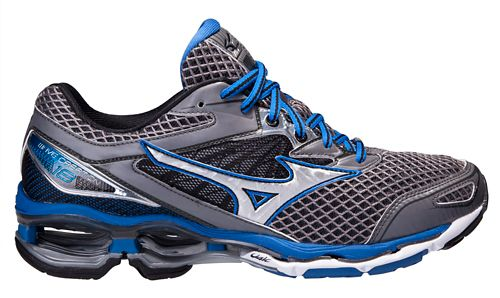 Mens Mizuno Wave Creation 18 Running Shoe - Steel/Blue 8