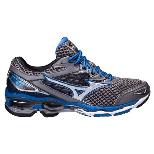 Mens Mizuno Wave Creation 18 Running Shoe - Steel/Blue 10.5