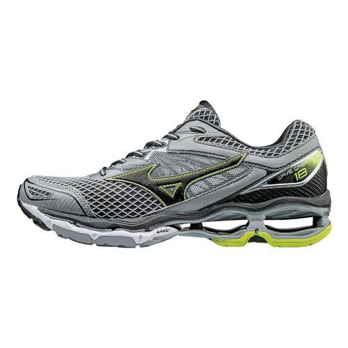 Mens Mizuno Wave Creation 18 Running Shoe - Grey/Safety Yellow 8.5